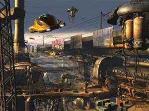 A futuristic city