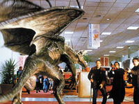 Monster in shopping centre