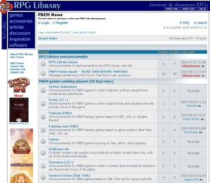rpg library screenshot