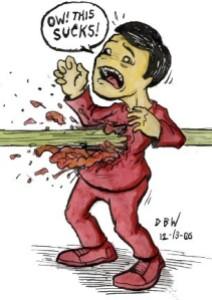 Redshirt being killed
