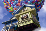 Up, house with balloons