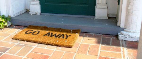 Go away floor mat