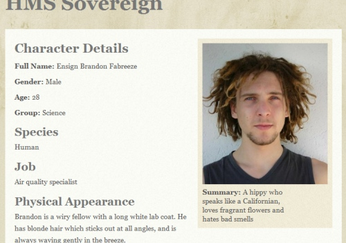 Character biography