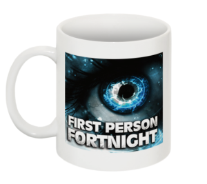 First person fortnight mug