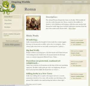 Roma homepage