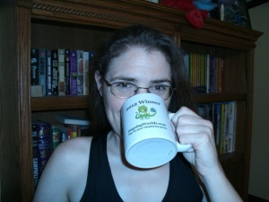 Aimee with 2012 1PF prize mug