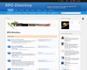 Screenshot of RPG-Directory.com