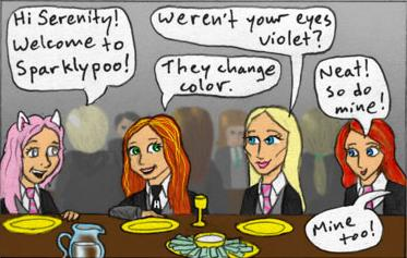 Mary sue characters discussing their eyes change color